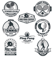 Tennis and ping-pong emblems vector image vector image
