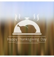 Thanksgiving Day blurred background vector image vector image