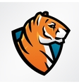 Tiger shield sport mascot template Football or vector image