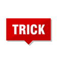 trick red tag vector image vector image