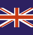 uk country flag vector image vector image