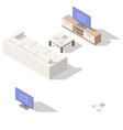 video game console lowpoly isometric icon set vector image