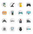 video game icons set flat style vector image vector image
