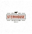 vintage steak house logo retro styled grill vector image vector image