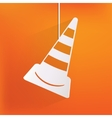 warning road cones icon vector image