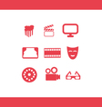 windmill icons set vector image vector image