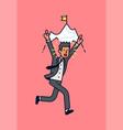 winning businessman concept vector image vector image