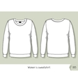 Women sweatshirt Template for design easily vector image vector image