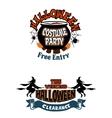 Halloween holiday invitations vector image