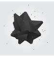 Black polygonal geometric abstract shape figure vector image