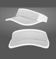 visor cap vector image