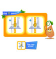 12 differences funny fruit vector image vector image