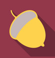 acorn flat icon nut and food graphics a colorful vector image