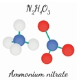 Ammonium nitrate N2H4O3 molecule vector image vector image
