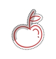 Apple fruit silhouette vector image vector image