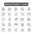 appointment line icons for web and mobile design vector image vector image