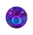 astrological symbol of taurus abstract shiny vector image
