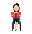 avatar woman reading a book vector image vector image