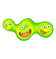 Bacteria with monster faces vector image vector image
