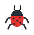 beetle insect or bug icon image vector image vector image