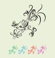 bird floral vector image vector image
