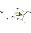 bird with tree silhouette background vector image vector image