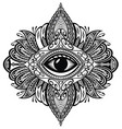 blackwork tattoo vector image vector image