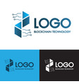 blockchain connect technology and digital modern vector image vector image