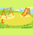 Cartoon empty playground vector image