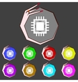 Central Processing Unit Icon Technology scheme vector image vector image