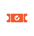 check ticket graphic icon design template vector image vector image