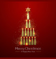 christmas poster with golden champagne bottle vector image vector image