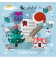 Christmas scene flat style vector image