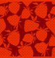 classic minimal strawberry seamless pattern vector image vector image