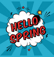 colorful pop art with spring time phrase vector image