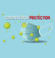 coronavirus protection banner with mask vector image vector image