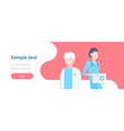 couple medical doctors team standing together two vector image vector image