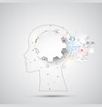 creative brain concept background with triangular vector image vector image