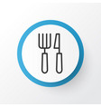 cutlery icon symbol premium quality isolated vector image
