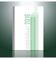 Design template for annual report vector image vector image