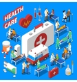 Doctor Patient Communication Isometric vector image vector image