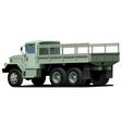 dropt side truck vector image vector image