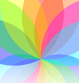 Flower abstract multicolored background vector image vector image