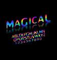 fun english alphabet vector image vector image