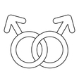 Gay love sign icon outline style vector image vector image