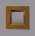 gold metal square frame blank vector image vector image