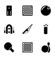 hobby icons vector image vector image