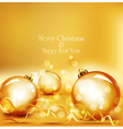 holiday gold background vector image vector image