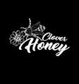 honey bee chalkboard sketch logo design vector image vector image