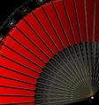 image of red fan vector image vector image